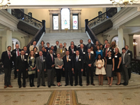 MA State House Lobby Day, group photo