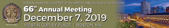 MCACS 66th Annual Meeting, December 7, 2019, Westin Copley Place, Boston, MA