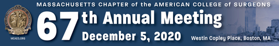 MCACS 67th Annual Meeting, December 5, 2020, Westin Copley Place, Boston, MA